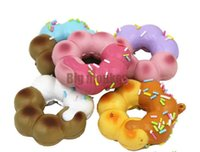 animal cell food - New CM Kawaii Donut Squishy Cell Phone Charm PU simulation food