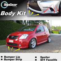 Wholesale Bumper Lip Lips For Citroen C2 Front Skirt Deflector Spoiler For Car Tuning The Stig Recommend Body Kit Strip