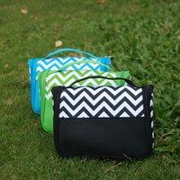 chevron bag - Ready in Stock Chevron Toiletry Bag Polyester Material Chevron Cosmetic Bag Makeup Bag DOM103219