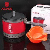 Wholesale CW S10 Alocs Person Outdoor Fast Heating Pot Camping Cookware with Bowl Heat Exchange Kettle L