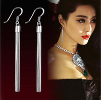 Wholesale 925 Sterling Silver Long Earrings For Women Fashion Jewelry White Gold Overlay Wedding Earring For Ladies and Girl