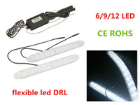 Wholesale flexible led Universal Car Daytime Running Light DRL Fog Driving Lamp LED White Waterproof flexible drl
