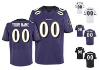 baltimore purple - 2016 Ravens Men Elite Custom Baltimore Home Away White Purple Black Football Jerseys Any Name Number SUGGS High Quality Stitched Wear