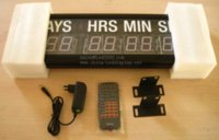 Wholesale 1 inch blue color day hours minutes and seconds led countdown clock timer wall clock HIT9 B wall digital clock