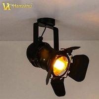 american spotlight - American Vintage LED Track Lights Lamp For Showrooms Clothing Store Bar Restaurant Four Leaf Spot Spotlights
