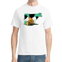 animated cows - Cow Milking Animated Personalized Fashion Men s Cotton T shirt