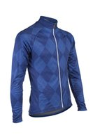 Wholesale Mens Simplicity Argyle Cycling MTB Winter Fleece Thermal Windproof Cycling Jacket Cycling uniform Winter Cycling coat C1