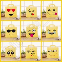 air pillow bags - LJJH1370 New Arrivals emoji smile KT monkey Elephant Pillow Blankets set in Cute Lovely Air Conditioning sleeping bag