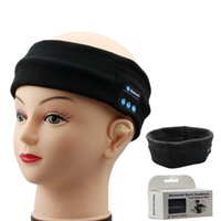 apple hats - Bluetooth Music Hat Wireless Stereo Earphone Washable Headband Headwear with Speakers Mic Hands Free for Running Jogging Retail Box