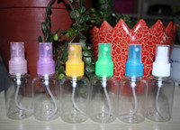Wholesale Sprayer Bottle ml transparent packing bottle plastic perfume bottle High grade Refillable PET with Spray Pump lotion bottle By DHL