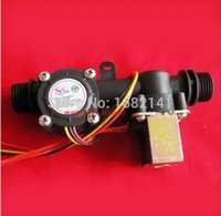 automatic flow control valve - Water Flow Sensor Electric Valve Water Control Machine Shcool IC Card Imprinter Flow Sensor Meter Automatic Billing System