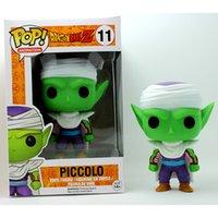 Wholesale 10CM Funko Pop Dragon Ball Z Light Green Piccolo Figure FUNKO POP Bobble Head COLLECTION VERSION ORIGINAL BOX Packing
