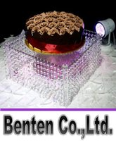 acrylic table tops - 16 quot diameter quot tall cm x cm wedding cupcake stands with the hanging acrylic crystals from top to bottom LLFA8886