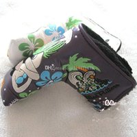 ans fashion - Fashion mermaid brand golf putter covers T putter headcover white ans perple cover