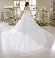 Wholesale shining bride wipes bosom big show thin trailing new bitter fleabane bitter fleabane gauze bandages wedding dress skirt weddi