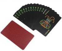 Wholesale novelty pure black glow in the dark noctilucent poker cards night luminous playing card as collection special poker set