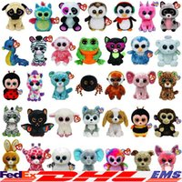 Wholesale 2016 Ty Beanie Boos Plush Stuffed Toys Big Eyes Animals Soft Dolls For Kids Birthday Gifts Christmas Xmas XL P144