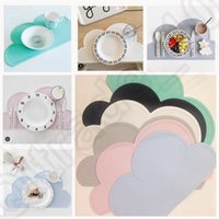 Wholesale 6 color Waterproof Insulation Bowl Silicone Mat Placemat Table Protector Ins Placemat Table Mat Place Mats Cloud Mat KKA61