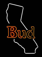 beer california - Budweiser Bud California Map Neon Sign Custom Handmade Real Glass Tube Store Beer Bar KTV Club Pub Adverisement Display Neon Signs quot X12 quot