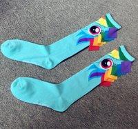 Wholesale pair Ma bao li socks in hand made drum female socks Personality with tail calf socks tide