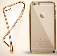 Wholesale iPhone7 Ultra thin Electroplating Plating Soft Clear TPU Case For iPhone S SE S Plus Samsung S6 S7 Edge Note Grand Prime G530 J5 J7