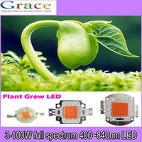 Wholesale W w w w w led grow lights full spectrum nm nm for hydrpobnic greenhouse indoor garden plant grow
