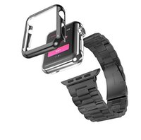 Wholesale Apple Watch Case with temper screen protector and Steel Milanese Loop strap Replacement band set for iWatch