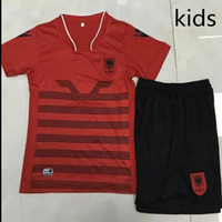 Wholesale 2016 Albania Kids kits football shirt kids best quality Children Soccer Jersey free delivery Albania Jersey