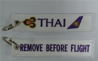 aviation fabric - Thai Remove Before Flight Zipper Pull Fabric Key Chain Aviation Tags x cm