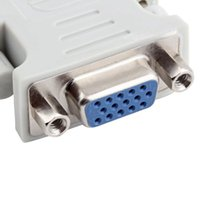 ati connectors - Gold plated ATI DVI to vga connector DVI I A D to VGA male to female pin to Pin Adapter Convert Hot New Arrival