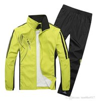 Wholesale 2016 spring and autumn men sport suit adult early morning runs men tracksuits adult clothing size L XL colors T888