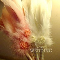 baby shower pens - New Feather Wedding Pen Golden Wedding Party Baby Shower Birthday Sign Signature Pen Personality Wedding Supplies