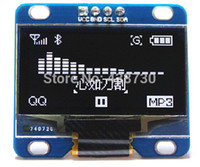 Wholesale White quot I2C IIC Serial X64 OLED LCD LED Display Module for Arduino Series MSP430 Series STM32 CSR IC