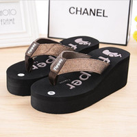 Wholesale 2016 Summer Women Flip Flops Platform Wedges Women Sandals Platform Flip Slippers Beach Shoes