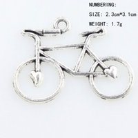 bicycle charm necklace - 30 x23 mm Antique Silver Open Heart Bike Bicycle Charms Pendants Fashion Jewelry DIY Fit Bracelets Necklace Earrings L264