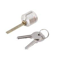 Wholesale New arrival Locksmith Transparent T Lock Visable Practice Padlock Training With Keys