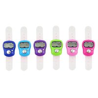 Wholesale Muslim Ring finger Hand digital tally counter Islamic hand counter could mix colors