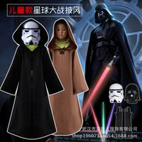Wholesale Star Wars Cosplay Chlidren Jedi Sith Robes Darth Vader Hooded Cape Cloak Costume Halloween Gift High Quality