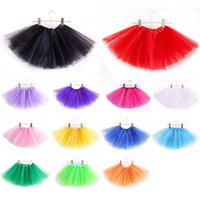 Wholesale New Arrivals Baby Girls Childrens Kids Dancing Tulle Tutu Skirts Pettiskirt Dancewear Ballet Dress Fancy Skirts Costume QX168