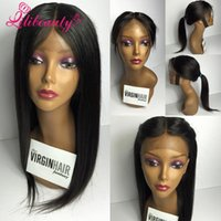 beauty hand knotted - Beauty peruvian straight lace front wig inch human hair full lace wig density bleached knot baby hair around