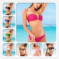 Wholesale Swimwear Wear Hot Style Crazy Who Are Pretty New Foreign Trade Fringed Bikini Fashion Pure Color Swimsuit