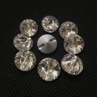 achat en gros de pierres 16mm rivoli-Pointback Rivoli Coudre sur Pierres Crystal Clear Couleur Un Trou 8mm 10mm 12mm 14mm 16mm 18mm