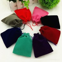 Wholesale Mix Jewelry Drawstring Bags Velvet Gift Pouches For Bracelets Necklaces Earrings Multi colors Brand New