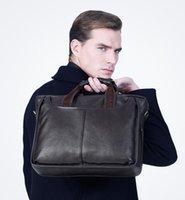 Wholesale The leather bag Diagonal package Single shoulder briefcase Business handbag