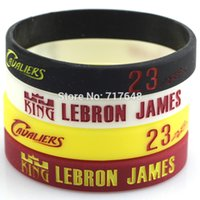 basketball rubber bracelets - Lebron James wristband Silicone Bracelet rubber cuff wrist bands Signature No Classical Sport Bracelets Basketball Bands BY DHL
