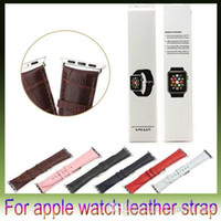 Wholesale New Crocodile Watchband For Apple Watch Strap Genuine Leather Wrist Band Strap For iWatch mm mm With Strap Connector Adapter retail box