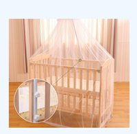 baby cot nets - 160CM CM Baby Crib Cot Insect Mosquitoes Wasps Flies Net for Infant Bed Folding Crib Netting Child Baby Mosquito Nets With Stand