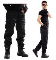 army commando - 2016 Outdoors men Overalls black bermudas outdoor training Military army tactical pants commando trousers cargo pants Free Ship