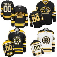 authentic jersey sizes - Customized Men s Boston Bruins Custom Any Name Any Number Ice Hockey Jersey Authentic Jersey Embroidery Logos Accept Mix Ord size S XL