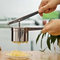 automatic orange squeezer - New Home decoratopn cooking tools Stainless Steel Manual Juicer Potato Orange Banana Masher Ricer Fruit Juice Presser Squeezer order lt no t